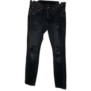 Abercrombie 28X30 Felix Super Slim Distressed Jean